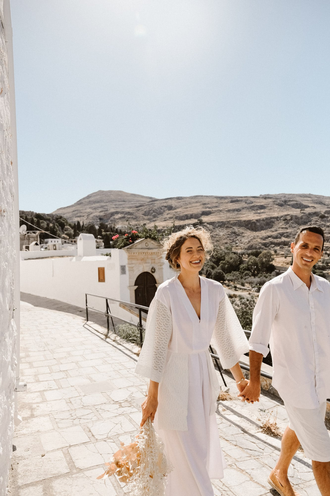 Lindos summer elopement in Greece